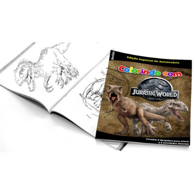 5 Cadernos de Colorir Jurassic World