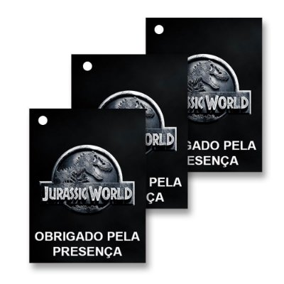 30 Tags Jurassic World 4x3cm
