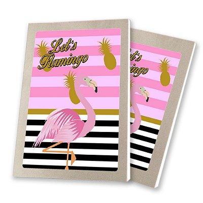 5 Bloquinhos de Papel 25 Folhas Flamingo Abacaxi 10,5x7,5cm