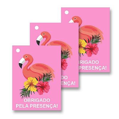 30 Tags Flamingo Abacaxi 4x3cm