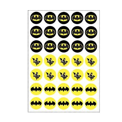 35 Adesivos Batman Geek Redondo 3,5cm