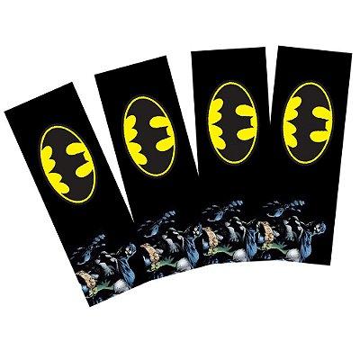 8 Adesivos Batman Geek Retangular 20x7cm