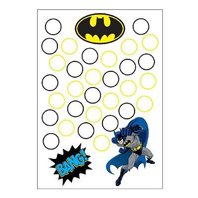 Quadro de Assinaturas e Digitais Batman Geek 30x43cm - 1 Unidade