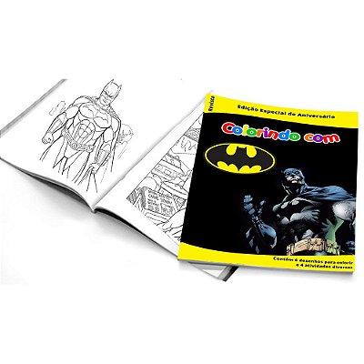 5 Cadernos de Colorir Batman Geek