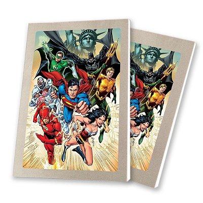 5 Bloquinhos de Papel 25 Folhas Liga da Justiça 10,5x7,5cm