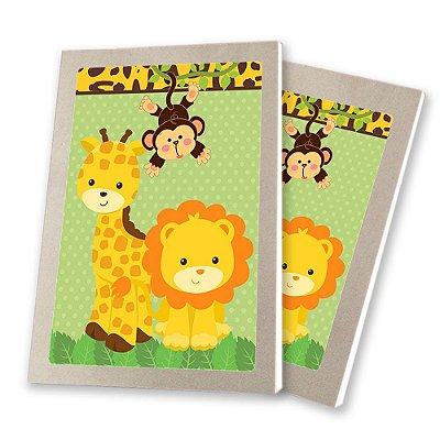 5 Bloquinhos de Papel 25 Folhas Safari 10,5x7,5cm