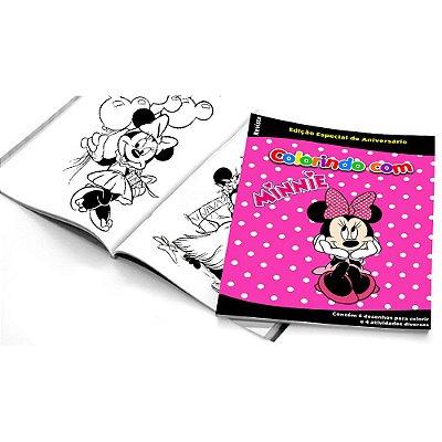 5 Cadernos de Colorir Minnie Rosa