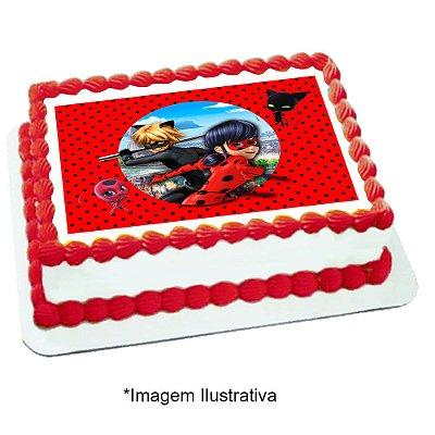Papel de Arroz Ladybug Miraculous 28x20cm - 1 Unidade