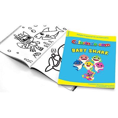 5 Cadernos de Colorir Baby Shark