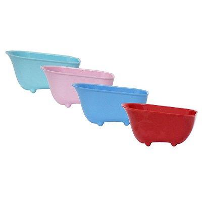 Banheirinha de Acrílico Cores Sólidas para Lembrancinha ou Sais de Banho - Kit c/ 10