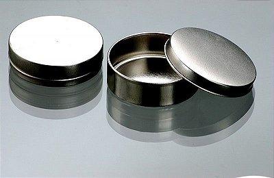 Latinhas em Metal Mint to Be 5,5x1,5 cm Prata - Kit com 100 unids