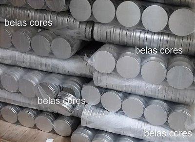 Atacado - Latinhas em Metal Mint to Be 5x1 cm Prata - Caixa com 1000 unids