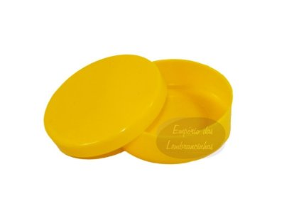 Latinhas de Plástico Mint to Be 5,5x1,5 cm Amarelas - Kit com 100 unids