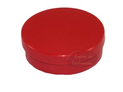 Latinhas de Plástico Mint to Be 5,5x1,5 cm Vermelha - Kit com 50 unids