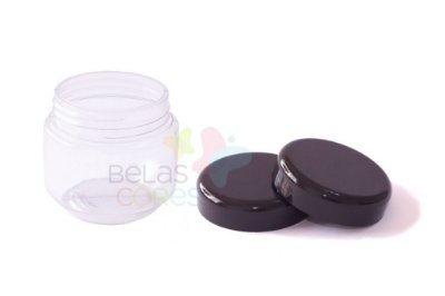 Pote de Papinha de Plástico 120gr - Preto - 10 Unids