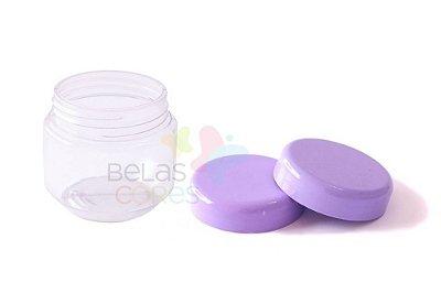 Pote de Papinha de Plástico 120gr - Lilás - 10 Unids