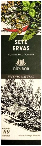 INCENSO NATURAL SETE ERVAS