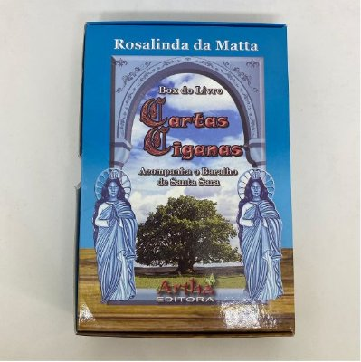 BOX LIVRO E BARALHO SANTA SARA (BARALHO CIGANO)