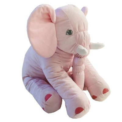 Almofada Elefante Dumbo Pelúcia 55cm Bebê  Rosa