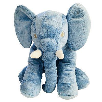Almofada Elefante Dumbo Pelúcia 55cm Bebê  Azul Bebê
