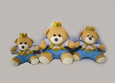 Trio De Ursinhos Para Nichos 15cm 20cm 25cm - Príncipe Azul Bebê