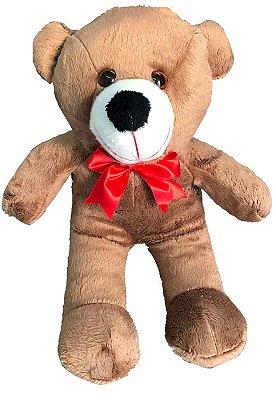 Urso De Pelúcia Teddy Grande Com Laço 50cm - Mel