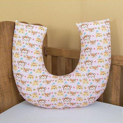 Almofada Amamentação Travesseiro - Modern -  Safari Rosa