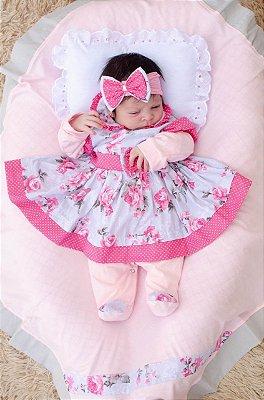 Saída De Maternidade 5 Peças Menina Charmosa Pink