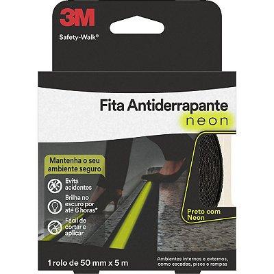 Fita adesiva anti-derrapante 50mmx5m neon Safety Walk