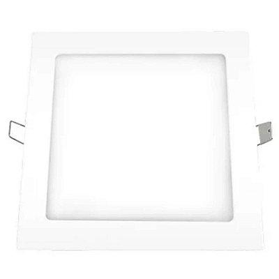 Plafon led quadrado embutir 12w 4000k biv