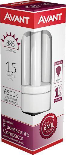 Lâmpada luz branca Compacta 3U 20W