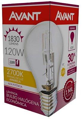 Lâmpada halogena - a60 120w 220v