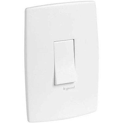 Pial plus - conjunto de interruptor simples 10a branco pial cód