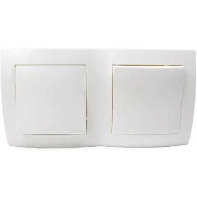 Pial - conjunto 1 interruptor simples e 1 paralelo sistema x -
