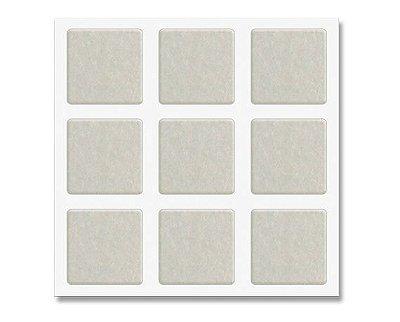 Feltros protetores adesivos quadrados brancos para cadeiras