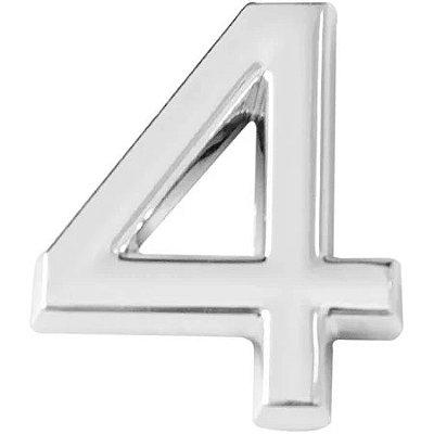 Numero 4 cromado
