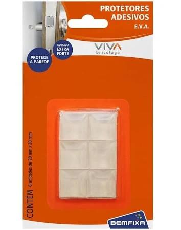 Protetores adesivos transparentes quadrados 17mm
