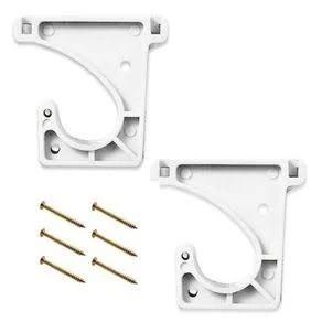 2 suportes para cabideiro tipo J
