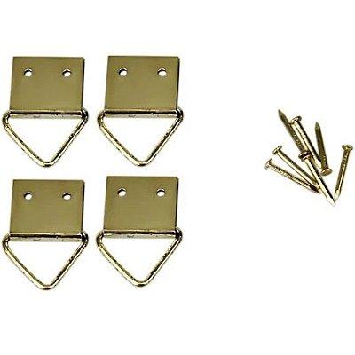 4 suportes triangulares grandes para quadro