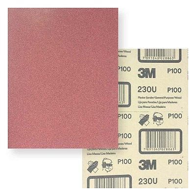 Lixa massa/madeira 230u grão p100 225 x 275