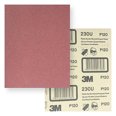 Lixa massa/madeira 230u grão p120 225 x 275