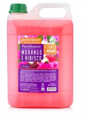 Sabonete liquido 5l morango e hibisco premisse c10321