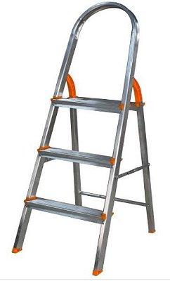 Escada de alumínio 4 degraus residencial - eds004