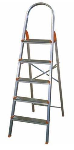 Escada dobrável alumínio 5 degraus doméstica