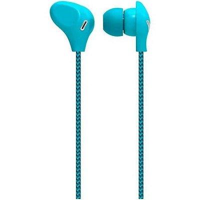 Fone de ouvido cabo de nylon/microfone azul ph195