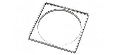 Porta grelha quadrada para caixas sifonadas e ralos 15x15cm