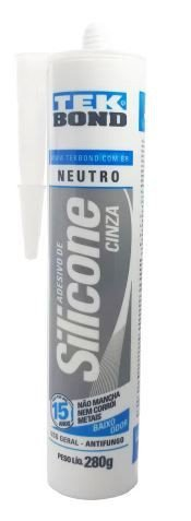 Silicone neutro uso geral cinza 280g