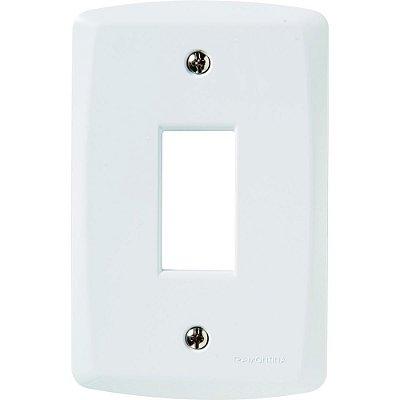 Placa vertical 1 conector 4x2  lux² blanca
