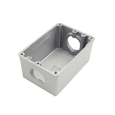 Caixa de luz para piso Caixa de luz para piso 4x2 (2) 3/4 (baixa)