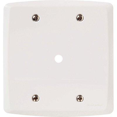 Placa com 1 furo 9,5 mm 4x4  lux² branca